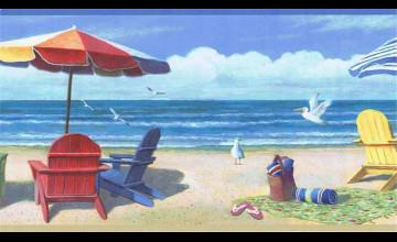 Beach Border Wallpaper