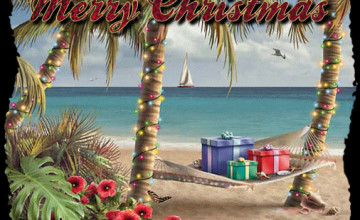 Beach Christmas Wallpaper for Desktop