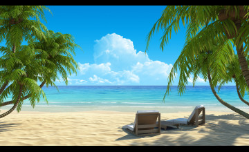 Beach Paradise Wallpaper