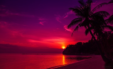 Beach Sunset HD Wallpaper