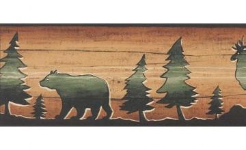 Bear and Moose Wallpaper Border