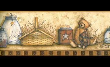 Bear Bottoms Welcome Wallpaper Border