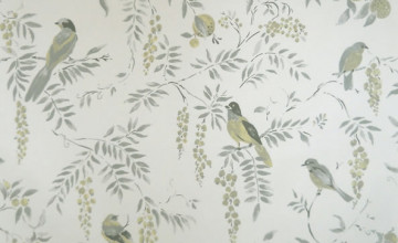 Bird Motif Wallpaper