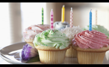 Birthday Cupcake Wallpaper