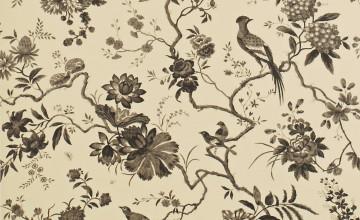 Black and Cream Toile Wallpaper