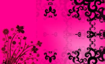 Black and Pink Desktop Wallpaper