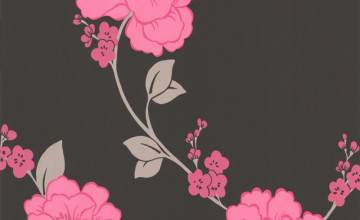 Black and Pink Flower Wallpaper