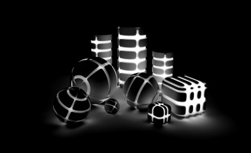 Black and White 3D Wallpaper