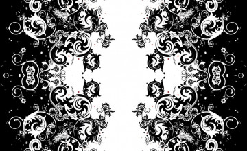 Black and White Design Wallpaper