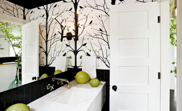 Black and White Wallpaper for Bathroom
