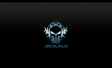 Black Arch Linux Wallpaper