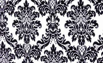 Black Flocked Wallpaper
