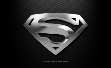 Black Superman Logo Wallpaper