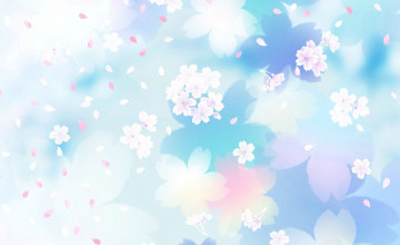 Blue and White Floral Wallpaper