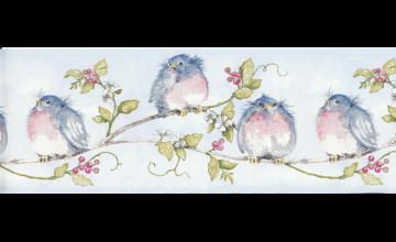 Blue Bird Wallpaper Border