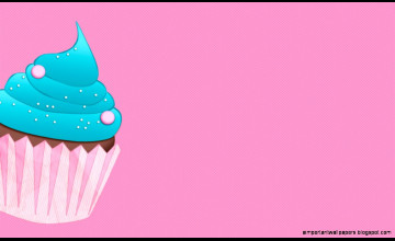 Blue Cupcake Wallpaper