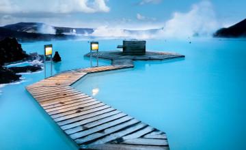 Blue Lagoon Wallpaper
