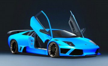 Blue Lambo Wallpapers