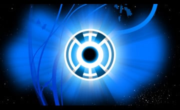Blue Lantern Wallpaper