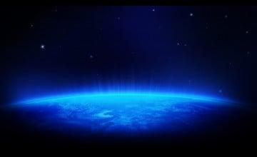 Blue Space Wallpaper HD