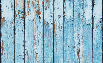 Blue Weathered Wood Wallpaper