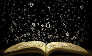 Book Themed Wallpaper