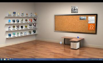 Bookshelf Wallpaper for Desktop