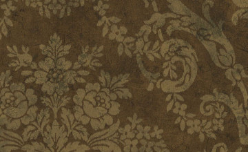 Brown Damask Wallpaper