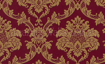 Burgundy and Gold Wallpaper
