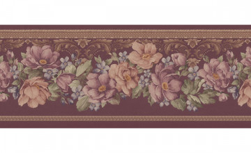 Burgundy Wallpaper Border