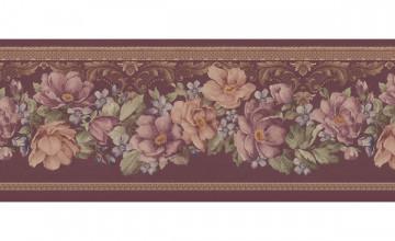 Burgundy Wallpaper Border