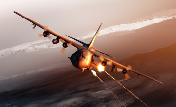 C 130 Spectre Wallpaper