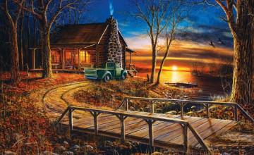 Cabin Wallpaper