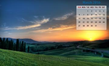 Calendar Wallpaper 2016