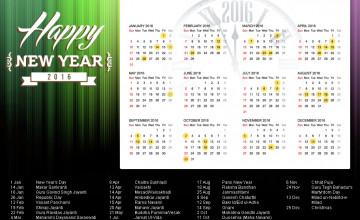 Calendar Wallpaper Free 2016
