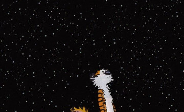 Calvin and Hobbes iPhone Wallpaper