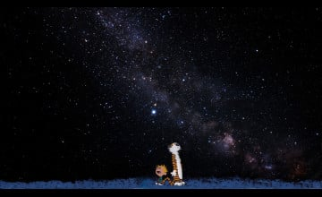 Calvin and Hobbes Stars Wallpaper
