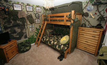 Camouflage Wallpaper for Bedrooms