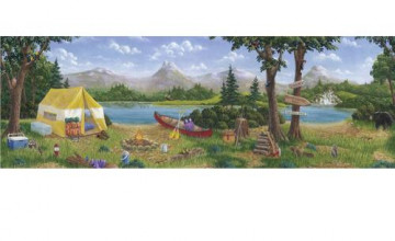 Camping Wallpaper Border