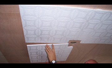 Can You Wallpaper Ceiling Tiles