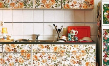 Can You Wallpaper Kitchen Cabinets