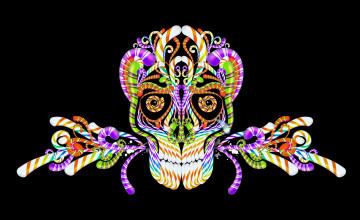 Candy Skull Wallpaper