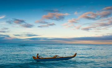 Canoe Paddling Waikiki Wallpaper