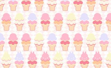 Cartoon Ice Cream Wallpaper