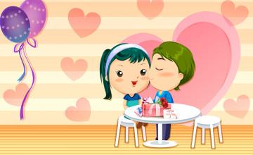 Cartoon Valentine Wallpaper