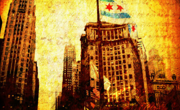 Chicago Flag iPhone Wallpaper