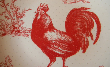 Chicken Toile Wallpaper