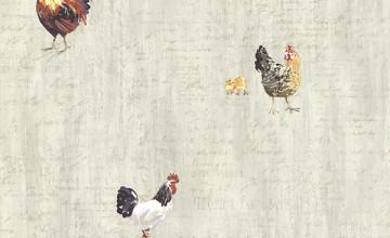 Chicken Wallpaper Wall Covering