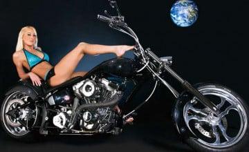 Chopper Girls Motorcycle Wallpaper