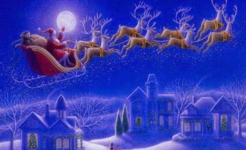 Christmas Cartoon Wallpaper Desktop